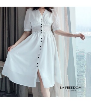 LA Freedom V Color Narrow Waist Dress