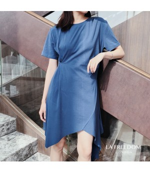 LA Freedom Hypotenuse Dress-Blue