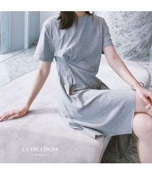 LA Freedom Hypotenuse Dress-Grey