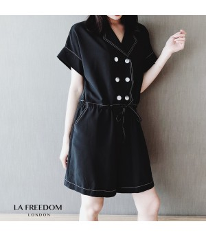 LA Freedom Retro Black Romper