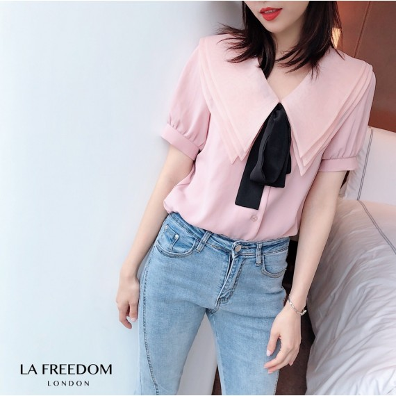 LA Freedom Tip Color Short Sleeve Shirt-Pink