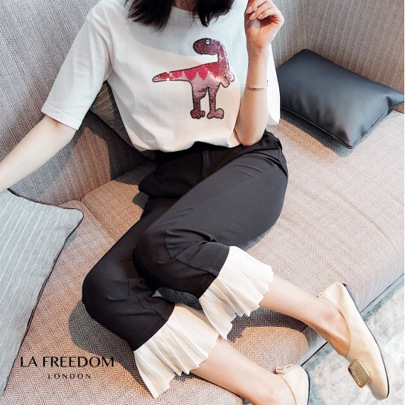 LA Freedom Black&White Wrinkle Pants