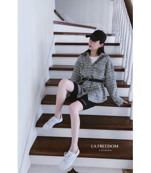 LA Freedom Chanel Style Insignia Coat-Shirt
