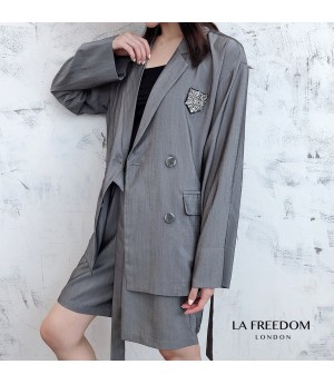 LA Freedom Grey&Silver Suit Two-Piece