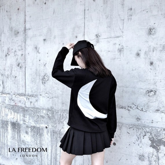 LA Freedom Reflective Moon Top-Black