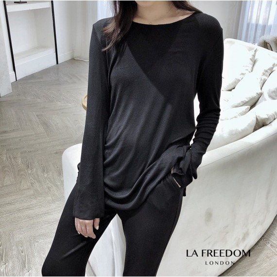 LA Freedom Knit Lazy Two-Piece-Black