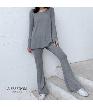 LA Freedom Knit Lazy Two-Piece-Grey