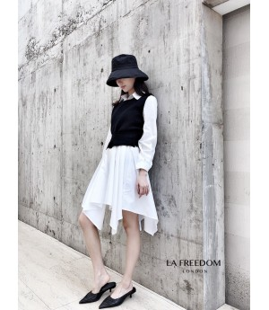 LA Freedom Early Autumn Shirt&Vest Two-Piece-White