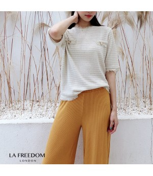 LA Freedom Chanel Style Knit Top