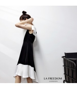LA Freedom Embroidery Black&White Dress