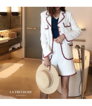 LA Freedom College Style Weaving Two-Piece-White