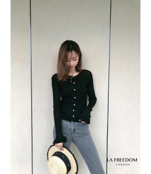 LA Freedom Pearl Button Shirt-Black