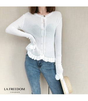 LA Freedom Pearl Button Shirt-White
