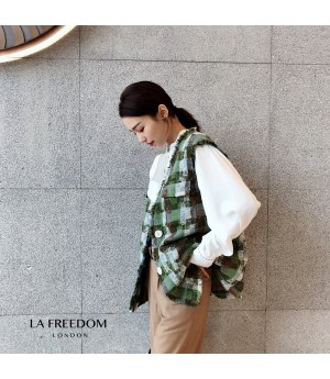 LA Freedom Chanel Style Lattice Vest Coat