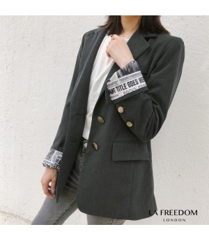 LA Freedom News Papper Sleeve Suit