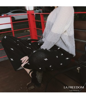 LA Freedom Multi-Layer Gradient Sweater-Gery