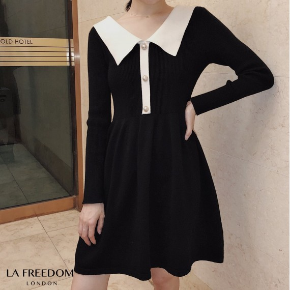 LA Freedom French Lapel Knit Dress