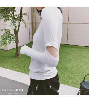 LA Freedom Separated Sleeve Shirt-White