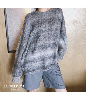LA Freedom Knit Gradient Sweater-Gery
