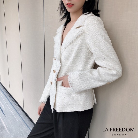 LA Freedom Chanel Style White Suit