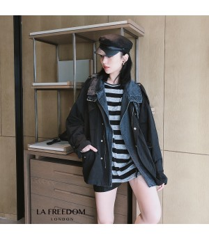 "LA Freedom ""Fake Two Piece"" Jeans Coat"