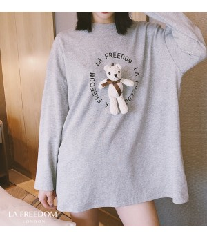 LA Freedom Bear Printing T-Shirt