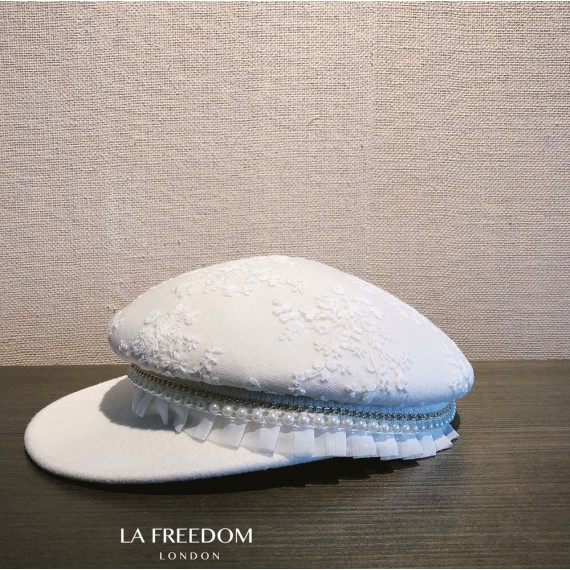 LA Freedom French Pearl Berets-White