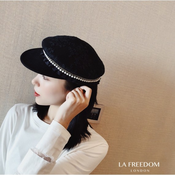 LA Freedom French Pearl Berets-Black