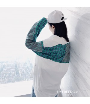 LA Freedom Diamond Green Lattice Shirt
