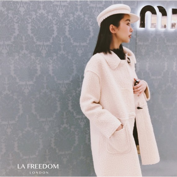 LA Freedom Circle Horn Button Coat