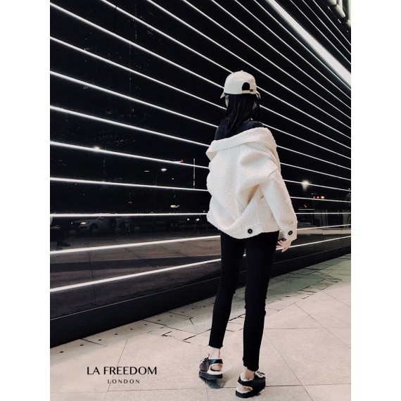 LA Freedom Circle Wool Short Coat