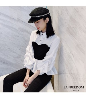 LA Freedom Fake Two Piece Lantern Shirt