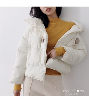LA Freedom Single-Breasted Lightweight Cotton Coat-White