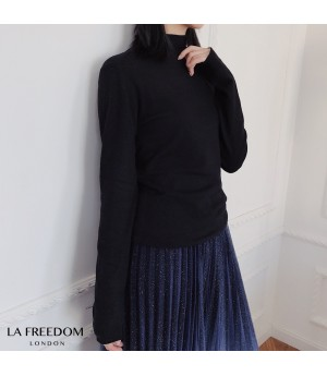 LA Freedom Wool Cashmere Shirt-Black