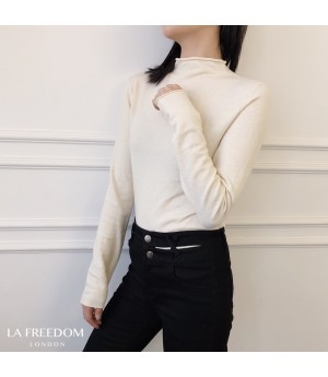 LA Freedom Wool Cashmere Shirt-White