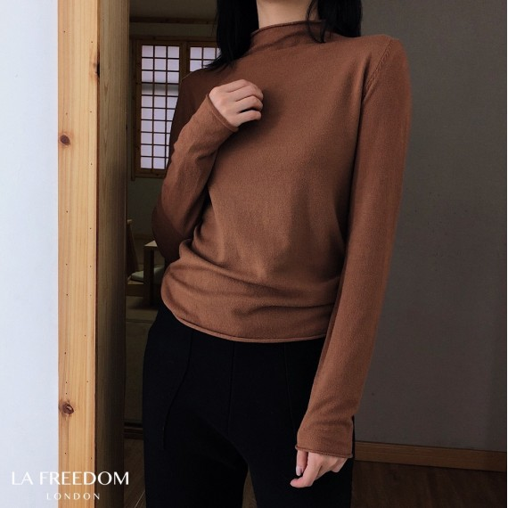 LA Freedom Wool Cashmere Shirt-Brown