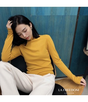 LA Freedom Wool Cashmere Shirt-Yellow