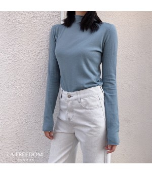LA Freedom Wool Cashmere Shirt-Blue