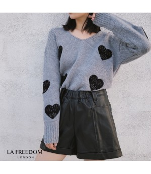 LA Freedom Heart Knit Sweater