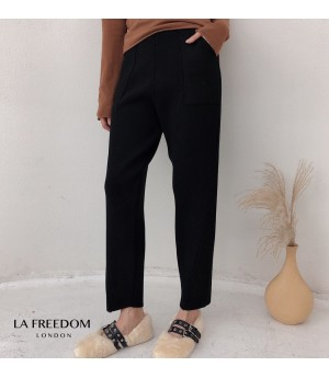 LA Freedom Knit Leisure Pants-Black