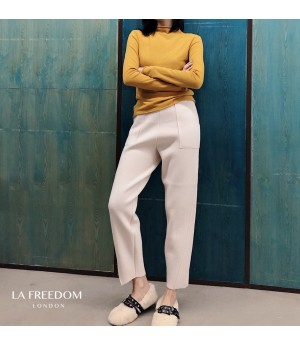LA Freedom Knit Leisure Pants-White