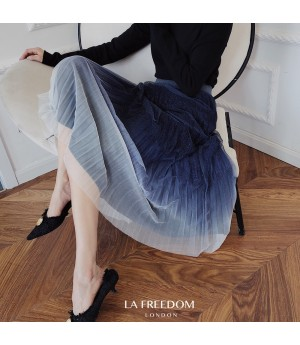 LA Freedom Dark Blue Gradient Skirt