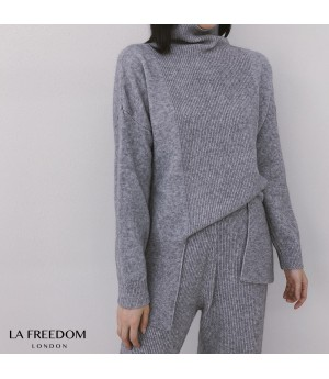 LA Freedom Lazy Knit Two-Piece-Grey