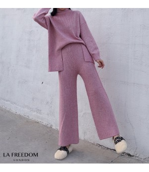 LA Freedom Lazy Knit Two-Piece-Pink