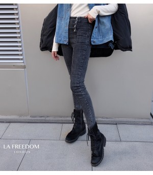 LA Freedom Double-Breasted Jeans Pants