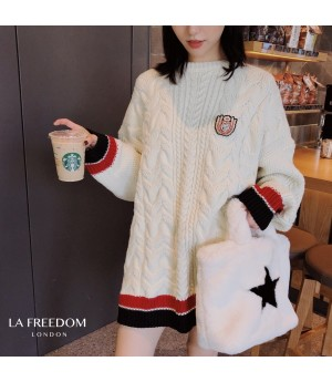 LA Freedom College Style Insignia Sweater-White
