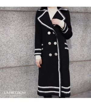 LA Freedom Double-Breasted Wool Coat