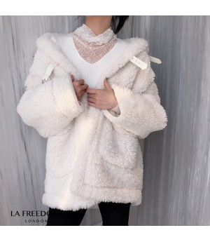 LA Freedom Snow White Quilted Coat
