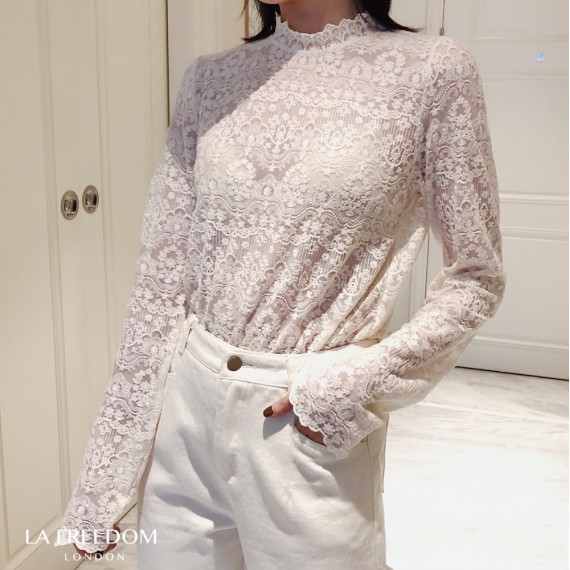 LA Freedom Rice White Lace Shirt