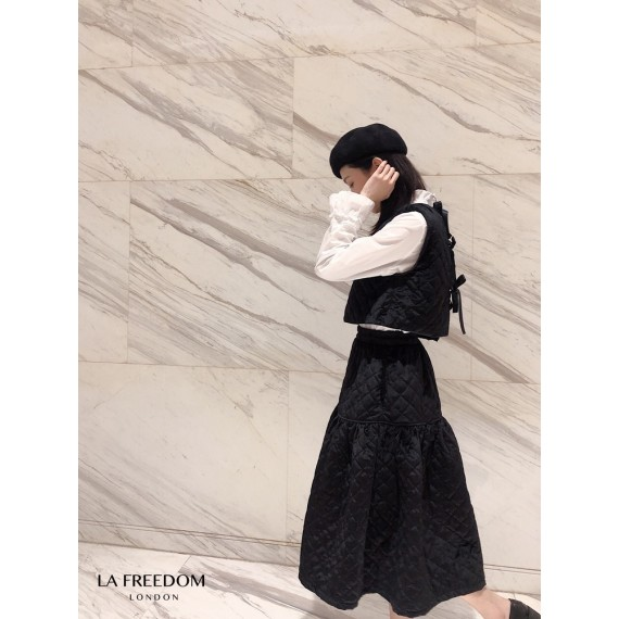 LA Freedom Velvet Quilted Dress Two-Piece